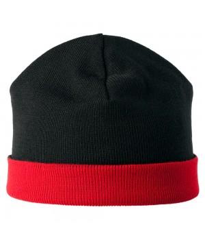 Шапка двусторонняя Multi, черно-красная