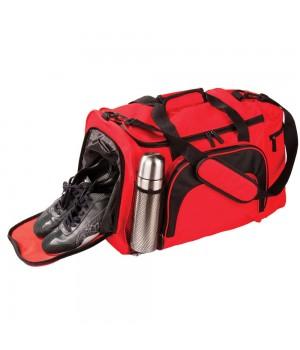Сумка с отделением для обуви и бутылки, красная