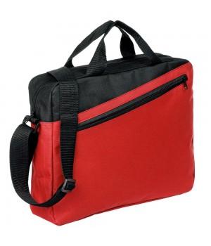 Конференц-сумка Unit Diagonal, красно-черная