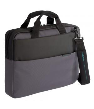 Сумка для ноутбука Qibyte Laptop Bag, темно-серая с черными вставками