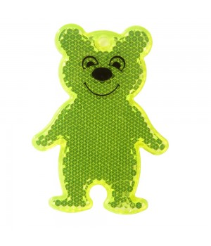 Пешеходный светоотражатель Bear, неон-желтый