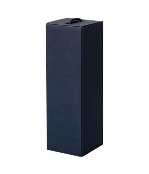 Коробка для бутылки раскладная на магнитах, синяя