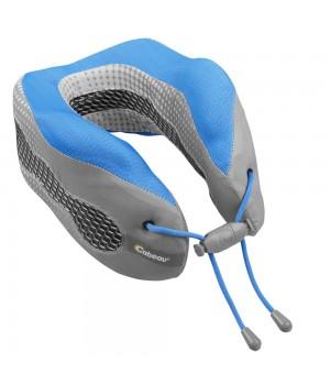 Подушка под шею для путешествий CaBeau Evolution Cool, серая с синим