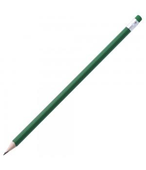 Карандаш простой Triangle с ластиком, зеленый