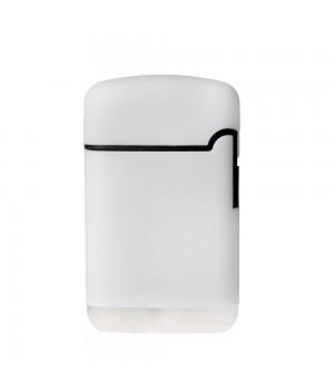 Зажигалка Zenga, турбо, многоразовая, белая