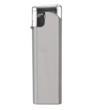 Зажигалка пьезо FLAMECLUB с серебристой кнопкой, многоразовая, серебристая