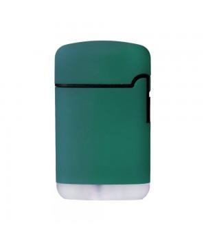 Зажигалка Zenga, турбо, многоразовая, зеленая