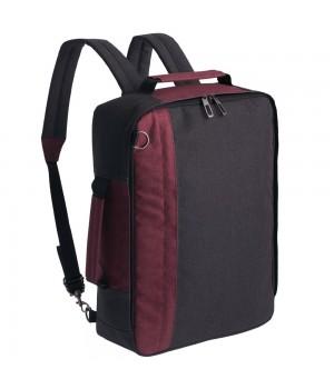 Рюкзак для ноутбука 2 в 1 twoFold, серый с бордовым