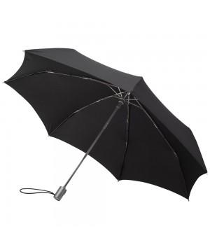 Зонт Alu Drop, полуавтомат, черный