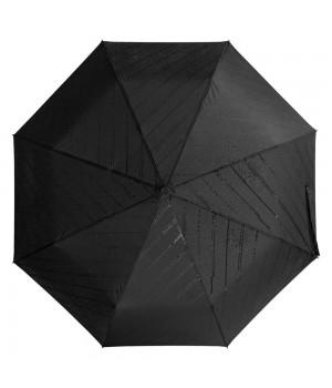 Зонт складной Magic с проявляющимся рисунком, черный
