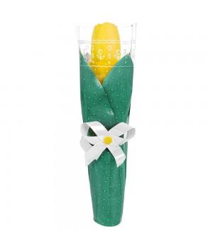 Зонт складной «Тюльпан», желтый